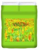 Sunflower Majic Duvet Cover