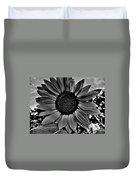 Sunflower In Black And White Duvet Cover