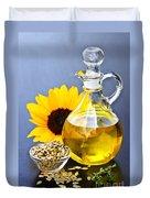 Sunflower Oil Bottle Duvet Cover