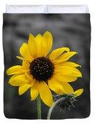 Sunflower On Gray Duvet Cover