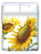 Sunflower Perspective Duvet Cover by Kerri Mortenson