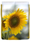 Sunflower Portrait Duvet Cover