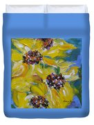 Sunflower Quartet Duvet Cover