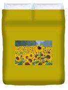 Sunflower Rain Sussex Nj Duvet Cover