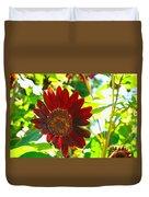 Sunflower - Red Blazer - Luther Fine  Art Duvet Cover