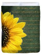 Sunflower Scripture Duvet Cover