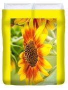 Sunflower Side Portrait Duvet Cover