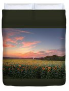 Sunflower Sunset Duvet Cover by Bill Wakeley
