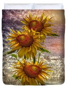 Sunflower Trio Duvet Cover