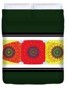 Sunflower Trio - Triptych - Flowers Duvet Cover