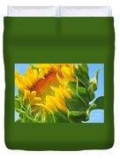 Sunflower Unfolding  Duvet Cover