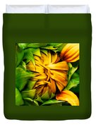 Sunflower Volunteer Duvet Cover