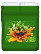 Sunflower Volunteer Half Bloom Duvet Cover