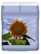 Sunflower With Busy Bees Duvet Cover