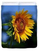 Sunflower With Honeybee Duvet Cover