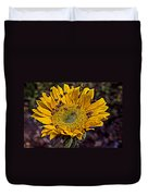 Sunflower With Ladybugs Duvet Cover