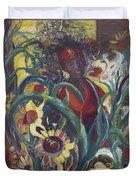Sunflower Woman #1 Duvet Cover