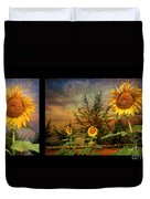 Sunflowers Duvet Cover by Adrian Evans