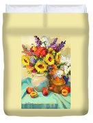 Sunflowers And Copper Duvet Cover