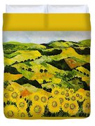 Sunflowers And Sunshine Duvet Cover