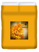 Sunflowers And The Sun Duvet Cover