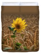 Sunflowers At Corny Duvet Cover