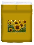Sunflowers At The Farm Duvet Cover