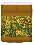 Sunflowers Helianthus Annuus Growing Duvet Cover