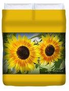 Sunflowers In Full Bloom Duvet Cover