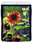 Sunflowers In The Park Duvet Cover