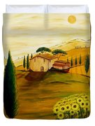 Sunflowers In Tuscany Duvet Cover