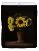 Sunflowers In Vase Duvet Cover
