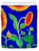 Sunflowers Duvet Cover by Irina Sztukowski