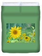 Sunflowers Vintage Dreams Duvet Cover