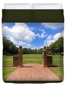 Sunken Garden At William And Mary Duvet Cover