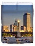 Sunkissed Prudential - Boston Duvet Cover by Joann Vitali