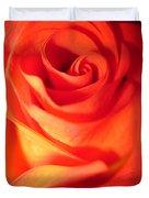 Sunkissed Orange Rose 10 Duvet Cover