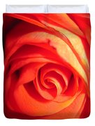 Sunkissed Orange Rose 11 Duvet Cover