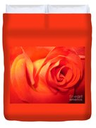 Sunkissed Orange Rose 6 Duvet Cover