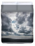 Sunlight Breaks Through The Clouds Duvet Cover