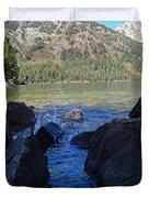Sunlight On Lake Jenny Duvet Cover