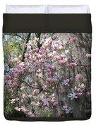 Sunlight On Saucer Magnolias Duvet Cover