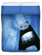 Sunlight Shining Through Golden Gate Duvet Cover