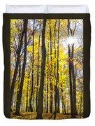 Sunburst Through Trees Duvet Cover