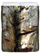 Sunlit Boulder On Shades Mountain Duvet Cover