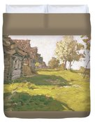 Sunlit Day  A Small Village Duvet Cover