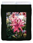Sunlit Fancy Pink Columbine Duvet Cover