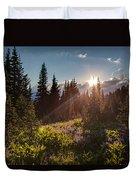 Sunlit Flower Meadows Duvet Cover