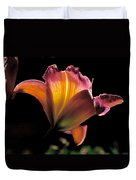 Sunlit Lily Duvet Cover by Rona Black