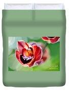 Sunlit Miniature Orchid Duvet Cover by Kaye Menner
